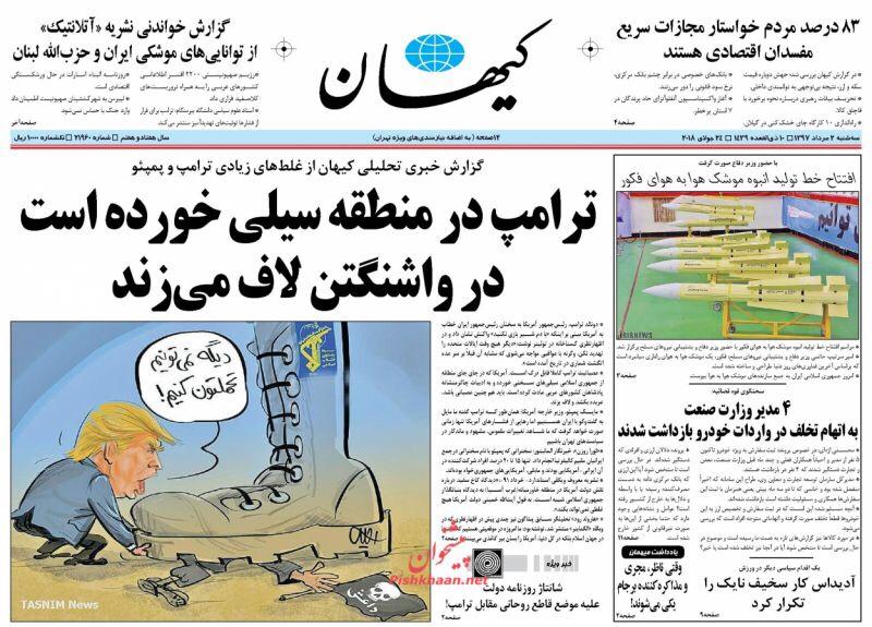 مانشيت طهران: كلام ترامب فارغ بأحرف كبيرة والتفاوض مع أميركا خطر الآن 1