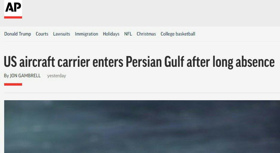 واشنطن- طهران: حاملة الطائرات الأميركية تدخل المياه الخليجية على وقع أحداث متقاطعة 2