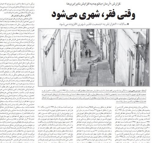 شبابيك إيرانية/ شباك الثلاثاء: انتشار الفقر والعنف في المدن الإيرانية 1