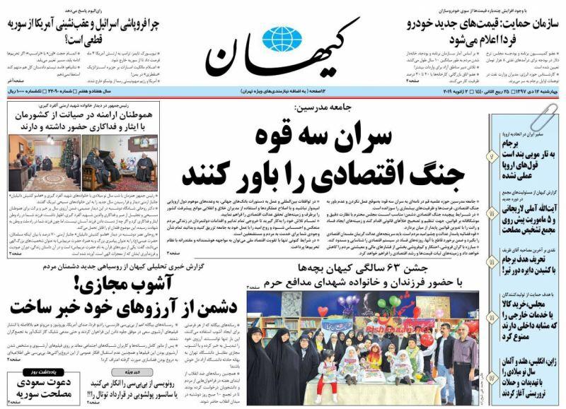 مانشيت طهران: تخوف من الانتخابات الرئاسية القادمة 2