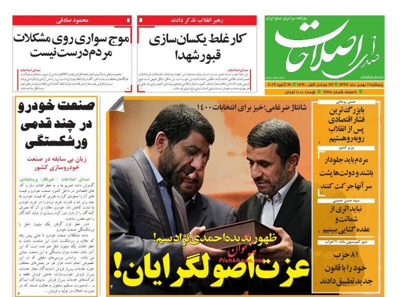 مانشيت طهران: الانتخابات الرئاسية تبدأ مبكرا وSPV تثير التوتر بين اميركا وأوروبا 1