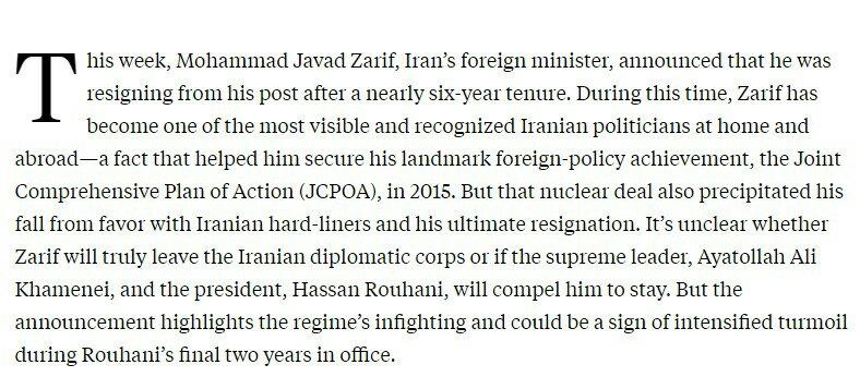 واشنطن - طهران: كيف يحوّل ظريف نقطة ضعف إلى نقطة قوة؟ 2