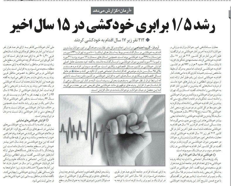 شبابيك إيرانية/شباك الأحد: مشاكل تزيد الانتحار والعزوف عن الزواج 1