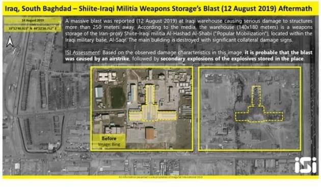 يديعوت أحرونوت: صور الأقمار الصناعية تؤكد تعرض قاعدة لحلفاء إيران في العراق لغارات جوية 2