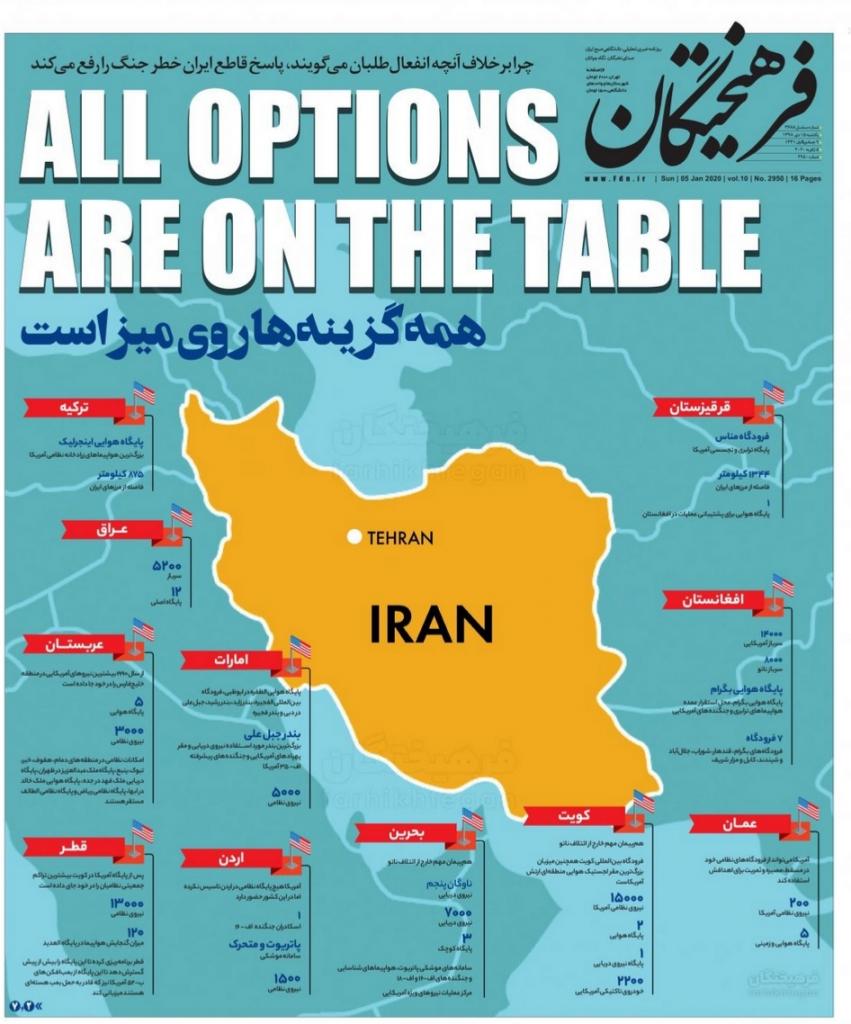 مانشيت إيران: ترامب وضع العالم على شفا حرب محتملة 1