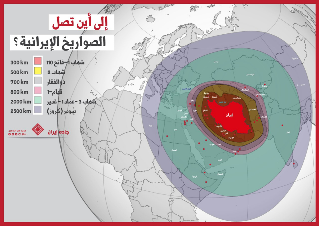 انفوغراف: إلى أين تصل صواريخ إيران؟ 1