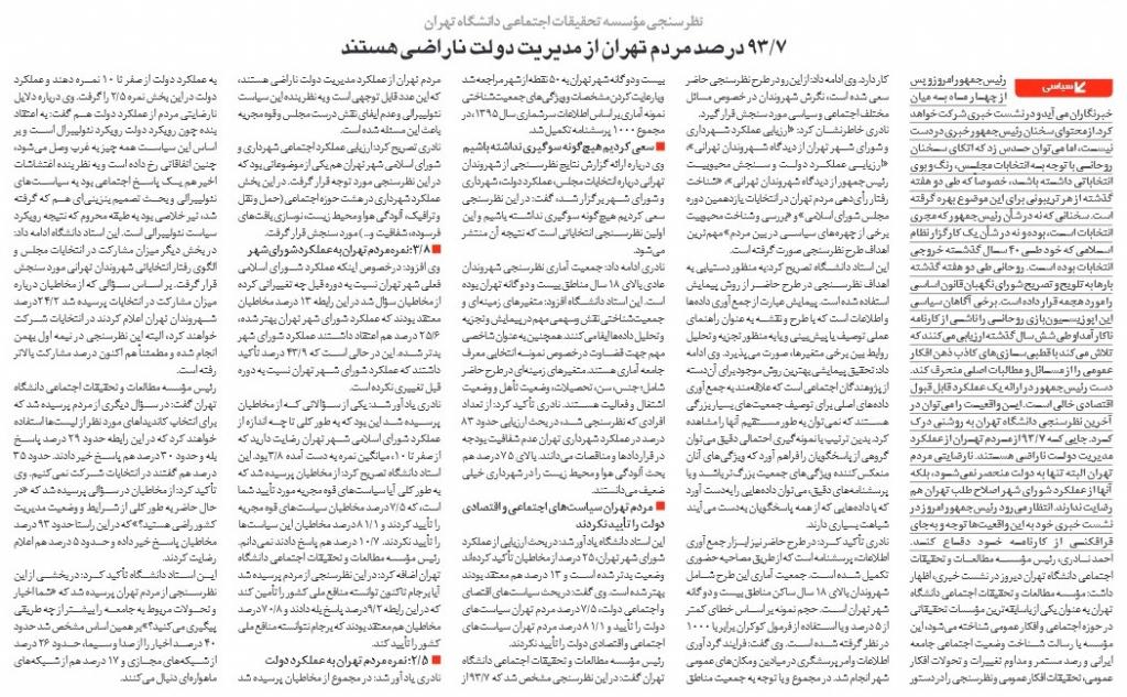 مانشيت إيران: سخط شعبي على أداء حكومة روحاني ومطالبات بمتابعة رسمية لمصير الوعود الانتخابية 8