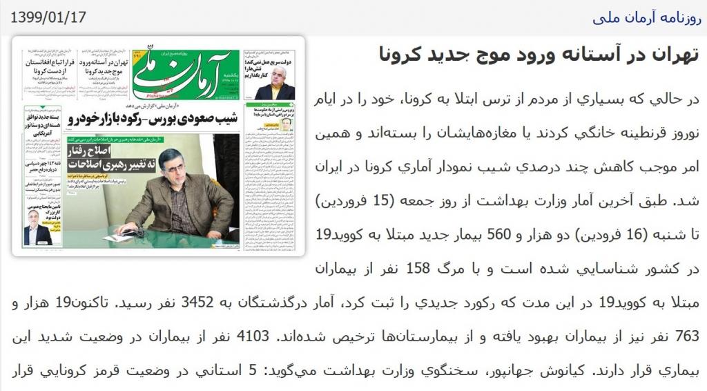 مانشيت إيران: قراءات في آلية تعاطي الحكومة الإيرانية مع جائحة كورونا 7