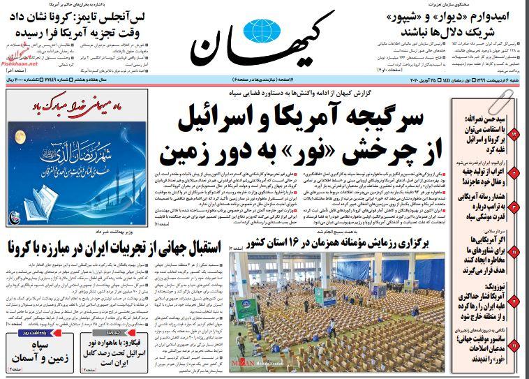 """مانشيت إيران: رسائل """"نور"""" وتحديات للحكومة 1"""