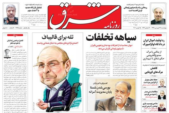 مانشيت إيران: أرقام رسمية تكشف هدرا كبيرا في موازنة إيران قبل عامين 5