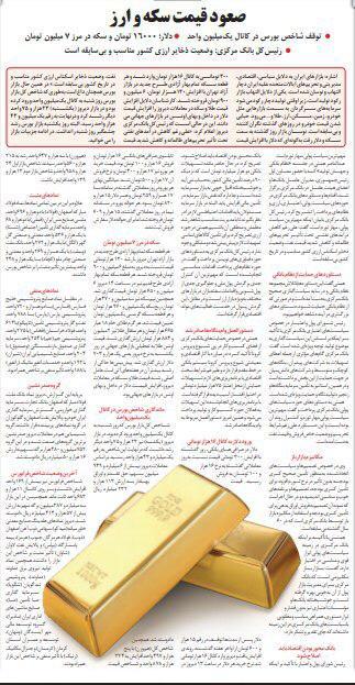 مانشيت إيران: عاصفة اقتصادية تضرب سوق الذهب والعملات 11