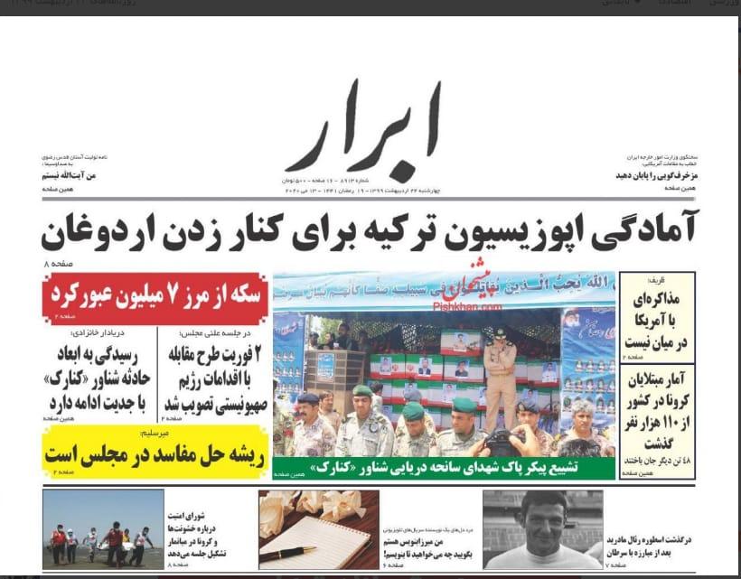 مانشيت إيران: إقالة مفاجئة لوزير الصناعة وتقرير التهريب صداع جديد لحكومة روحاني 6