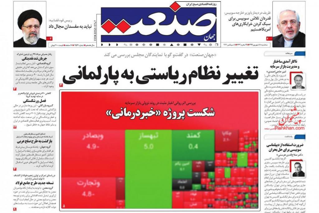 مانشيت إيران: إيران وانتخابات الرئاسة المقبلة.. هل يكون ظريف رجل المرحلة؟ 4