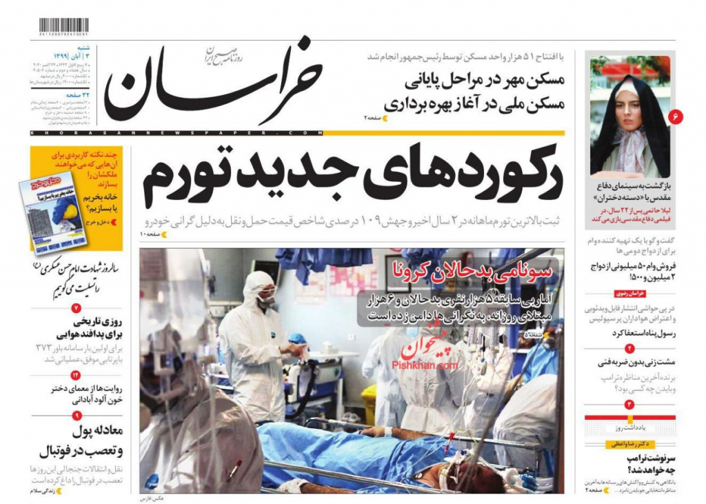 مانشيت إيران: منحنى التضخم في تصاعد.. ما أخر الأرقام؟ 2