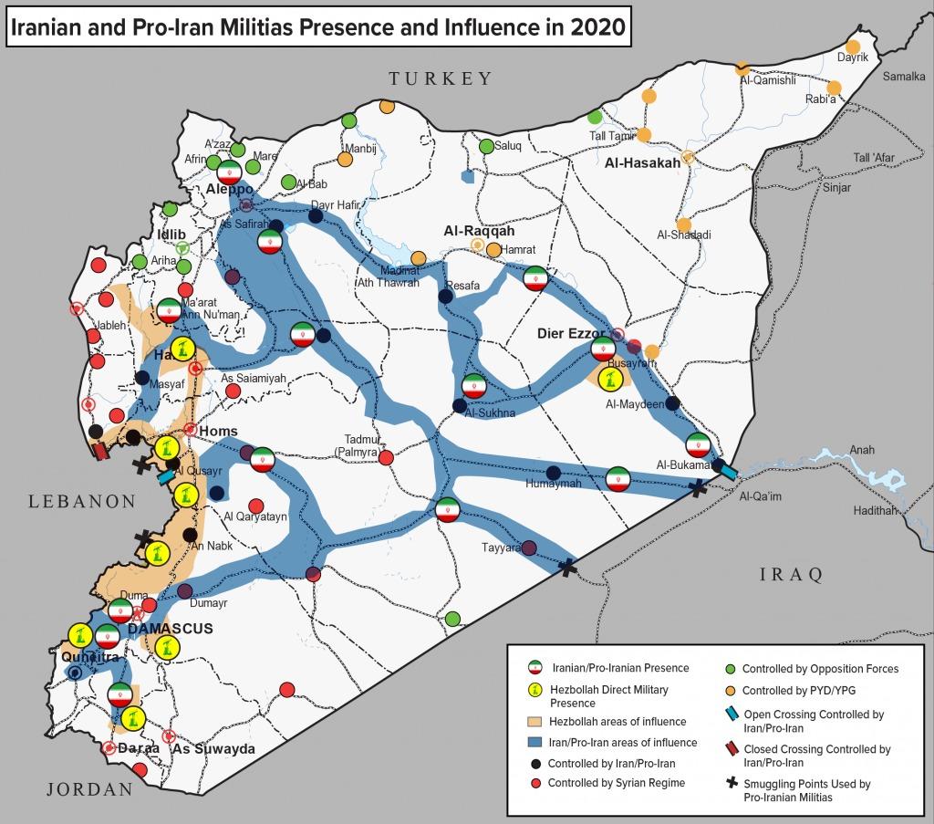 أتلانتيك كاونسل - النفوذ والوجود الإيراني في سوريا 3