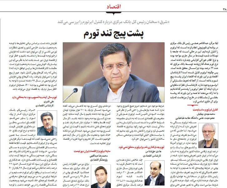 مانشيت إيران: تأثير التوتر بين الحكومة والبرلمان على المجتمع الإيراني 7