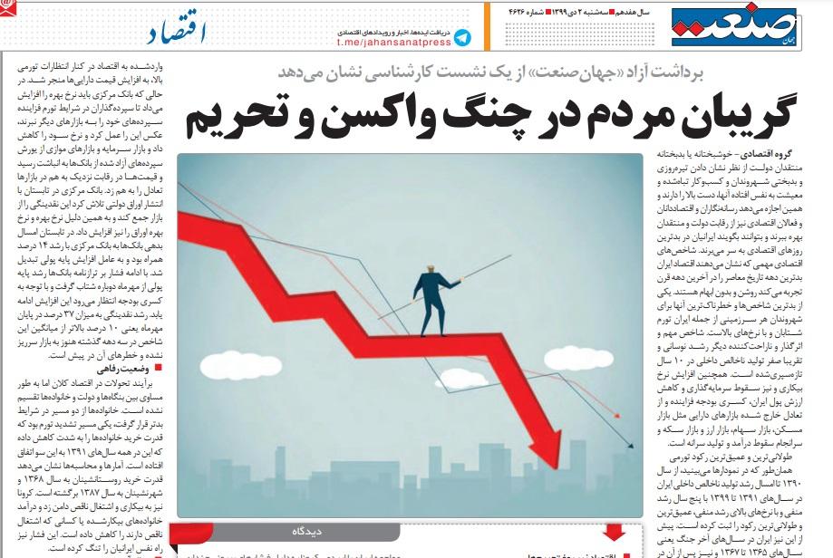 مانشيت إيران: الإيرانيون بين كورونا والتلوث والأزمات الاقتصادية 7