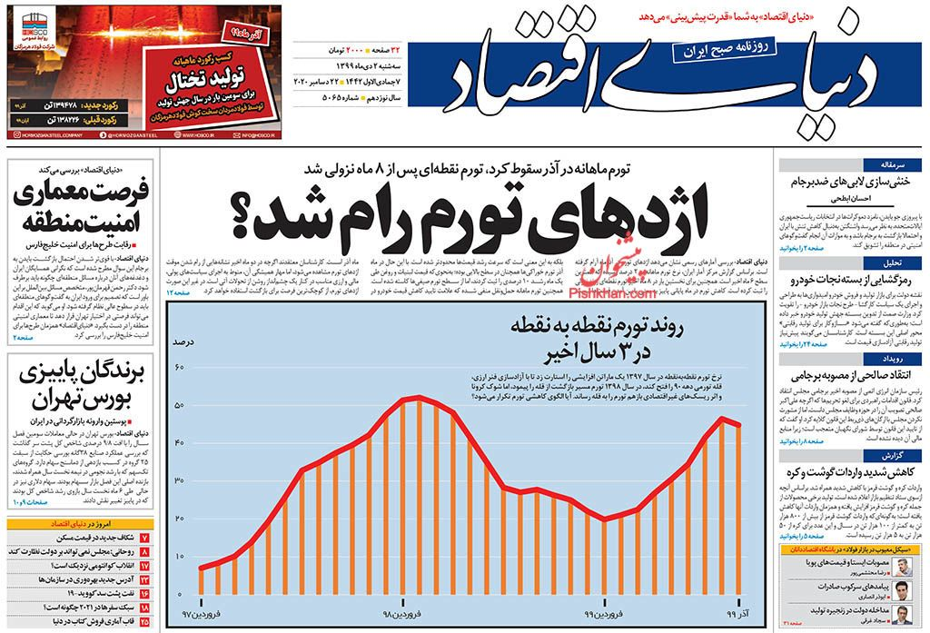 أبرز عناوين الواردة في الصحف الإيرانية 3