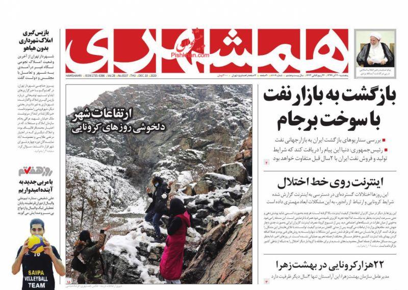 مانشيت إيران: الإيرانيون وقرار الحد الأدنى للأجور.. هل تكفيهم الـ 3 ملايين تومان؟ 2
