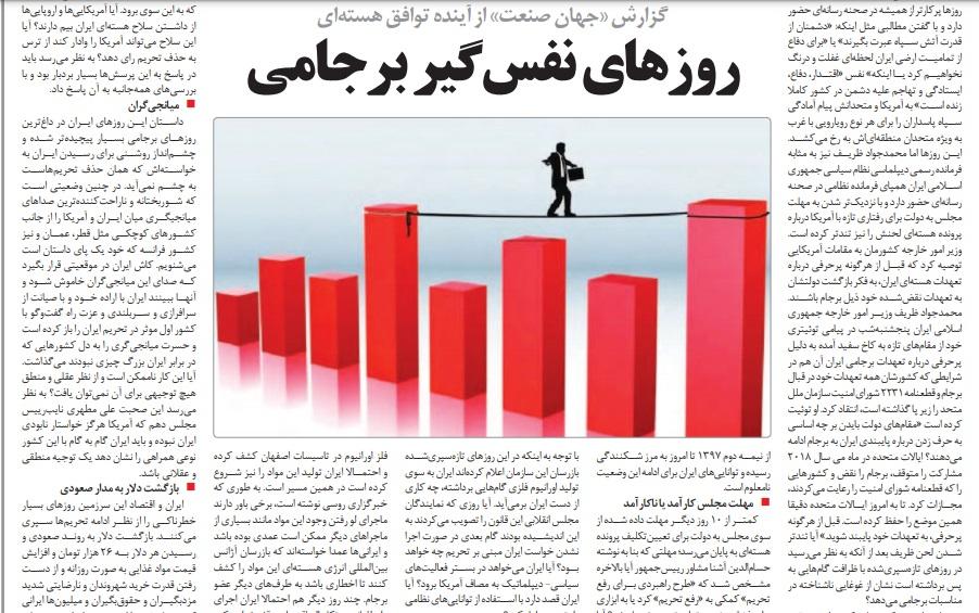 مانشيت إيران: هل يحقق التصعيد النووي هدف رفع العقوبات؟ 6