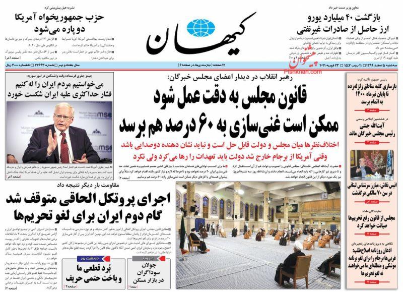 مانشيت إيران: خروج إيران من البروتكول الإضافي وتأثير ذلك على المفاوضات النووية 1