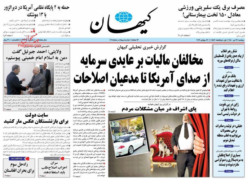 مانشيت إيران: قراءة إصلاحية في خلفيات اتهام الأصوليين لروحاني بتسليم رئيسي حكومة مديونة 3