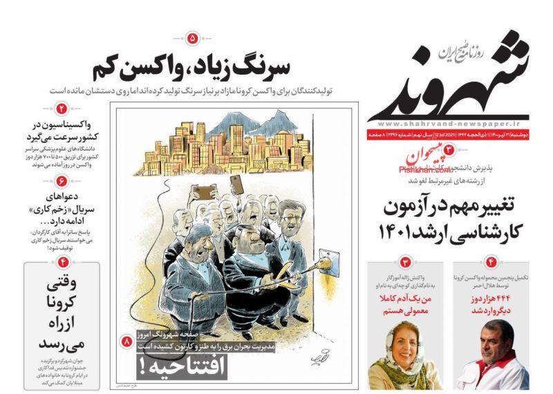 مانشيت إيران: قراءة إصلاحية في خلفيات اتهام الأصوليين لروحاني بتسليم رئيسي حكومة مديونة 2