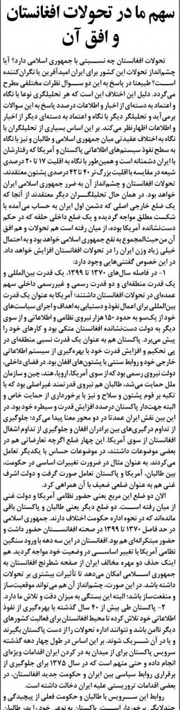 مانشيت إيران: ما هي الأضرار التي ستلحق بإيران إذا لم تتفاهم مع وكالة الطاقة الذرية؟ 9