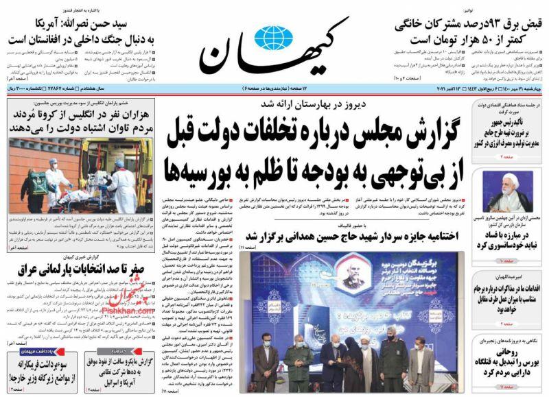 مانشيت إيران: هل تحمل نتيجة الانتخابات العراقية تنبيهًا لإيران؟ 6